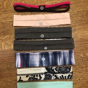 8 very lightly used Lululemon headbands (2)